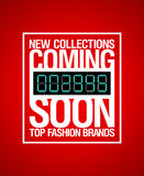 New collections, coming soon design. Royalty Free Stock Photo