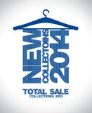 New collections 2014 design. New collections 2014, sale 2013 design template Royalty Free Illustration
