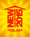 New collections 2015, sale 2014. New collections 2015, sale collections 2014 gold design Royalty Free Stock Photo