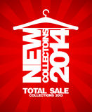 New collections 2014, total sale 2013. New collections 2014, total sale collections 2013 banner Royalty Free Illustration