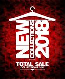 New collections 2018 vector banner. Total sale collections 2017 vector illustration