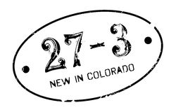 New In Colorado rubber stamp Stock Photos