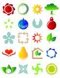 New colored icons. Illustration of a set of colorful different icons Stock Photos