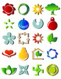 New colored icons. Illustration of a set of colorful different icons royalty free illustration