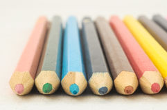New Colored Pencils Textured Stock Images