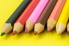 New Colored Pencils Textured Stock Photos