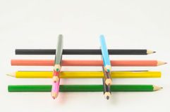 New Colored Pencils Textured Royalty Free Stock Photos