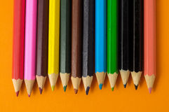 New Colored Pencils Textured Royalty Free Stock Photo