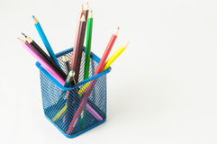New Colored Pencils Textured Royalty Free Stock Images