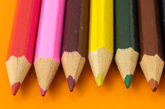 New Colored Pencils Textured Royalty Free Stock Photography