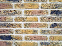 New colorful brick wall texture grunge background Stock Image