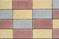New colorful concrete blocks for paving of streets Royalty Free Stock Photo
