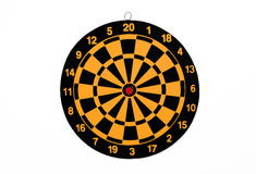 New Colorful Dartboard. Isolated on white background Stock Photography
