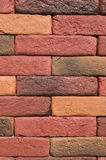 New colorful decorative brick wall Stock Images