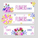 Colorful Flower Banners royalty free stock image