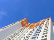 New colorful orange building, success Royalty Free Stock Photo