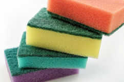 New colorful sponges for washing dishes Royalty Free Stock Image