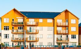 New Colourful Apartments Stock Photography