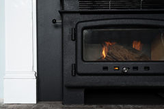 New combustion oven fireplace Royalty Free Stock Image