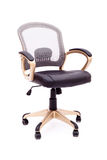 New comfortable stylish office chair isolated on white Stock Photos