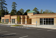 New Commercial Building. Newly constructed commercial building available for lease royalty free stock photography