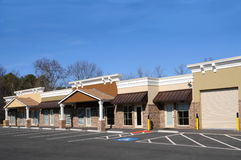 New Commercial Building. With Office and Retail Space Stock Photos