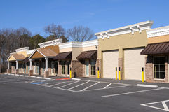 New Commercial Building. With Office and Retail Space Royalty Free Stock Photos
