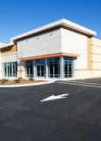 New commercial building. Newly constructed small commercial retail  office building Royalty Free Stock Photography