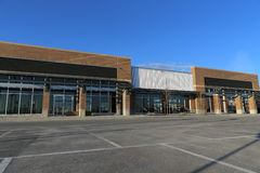 New Commercial Building. With Office and Retail Space stock image