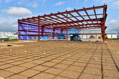 New commercial building under construction. royalty free stock photos