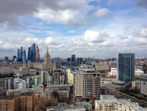 New commercial district of Moscow International Business Center (Moscow-City) Stock Photos