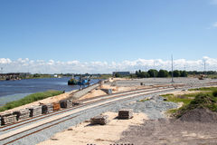New commercial dock construction Stock Images