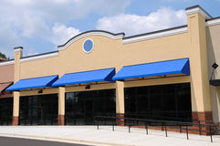 New Commercial Store Front. Store Front in a New Shopping Center Stock Photography