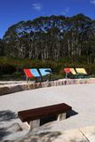Australia: new community park in bushland royalty free stock image