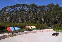 Australia: new community park in bushland - h Stock Photo