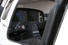 New Commuter Passenger Turbo Prop Aircraft Cockpit Stock Image