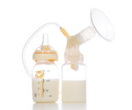 New compact electric breast pump to increase milk supply Royalty Free Stock Image