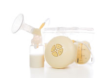 New compact electric breast pump to increase milk Royalty Free Stock Photo