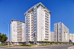 New complex of residential buildings Royalty Free Stock Photo
