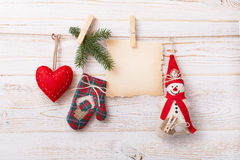 New composition of the toys handmade Christmas Royalty Free Stock Photos