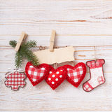 New composition of the toys handmade Christmas Royalty Free Stock Photo
