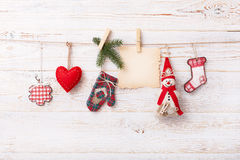 New composition of the toys handmade Christmas Royalty Free Stock Image
