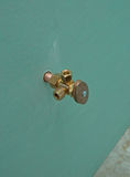 Plumbing - Compression Fitting. New Plumbing Installed with new drywall Royalty Free Stock Images