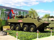 New concept Russian armored troop-carrier royalty free stock photography