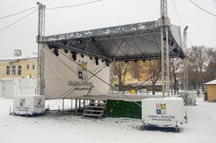 New concert platform in Pomorie, Bulgaria, winter Stock Photography