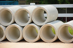 New concrete culverts. For road construction Royalty Free Stock Images