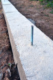 New concrete foundation construction with  steel anchor Royalty Free Stock Photos
