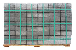 New concrete gray paving slabs pile Stock Photography