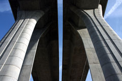 new concrete high highway bridge Stock Photo
