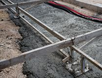 New concrete road construction Stock Image